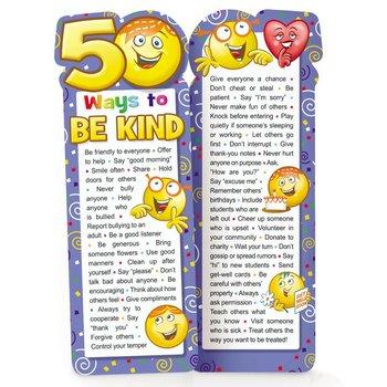 50 Ways To Be Kind Die-Cut Bookmarks - Pack of 25