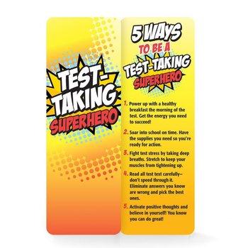 Test Taking Superhero Die-Cut Bookmarks - Pack of 25