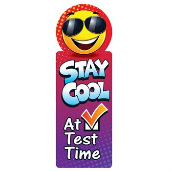 Stay Cool At Test Time Die-Cut Bookmark