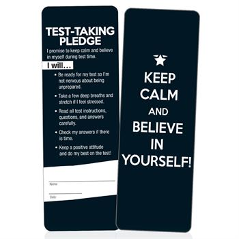Keep Calm And Believe In Yourself! Bookmarks - Pack of 25