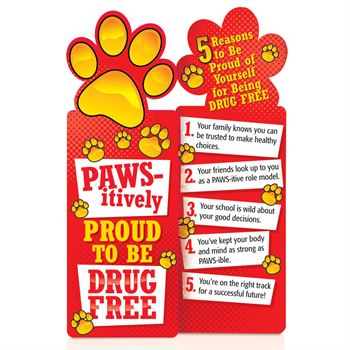 Paws-itively Proud To Be Drug Free Bookmarks