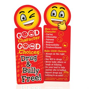 Good Character, Good Choices: Drug & Bully Free! Bookmarks - Pack of 100