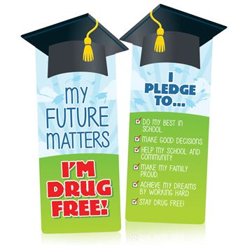 My Future Matters, I'm Drug Free! Die-Cut Bookmarks - Pack of 100