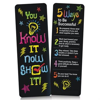 You Know It, Now Show It! Bookmarks - Pack of 25