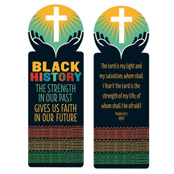 Black History Religious Theme Die-Cut Bible Marker