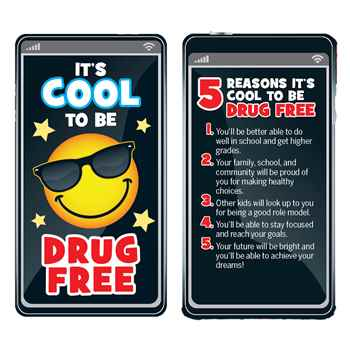 It's Cool To Be Drug Free Bookmarks - Pack of 100