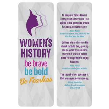 Women's History: Be Brave, Be Bold, Be Fearless Bookmark