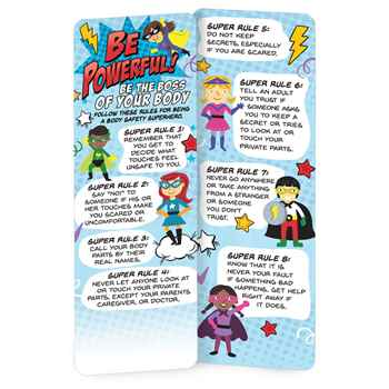 Be Powerful! Be The Boss Of Your Body Bookmark - Pack of 25