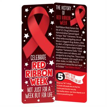 Celebrate Red Ribbon Week Not Just For A Week But For Life Bookmark - Pack of 100