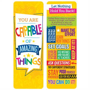 You Are Capable Of Amazing Things Bookmarks - Pack of 25