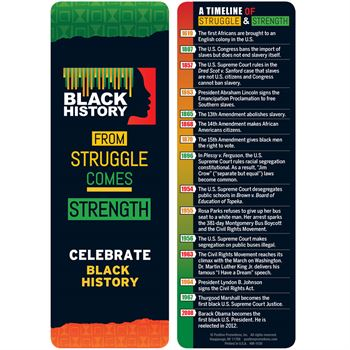 Black History: From Struggle Comes Strength Bookmark