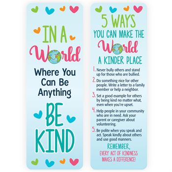 In A World Where You Can Be Anything, Be Kind Bookmark - Pack of 25