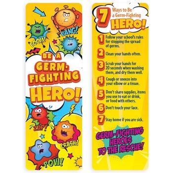 Germ-Fighting Hero Bookmark - Pack of 25