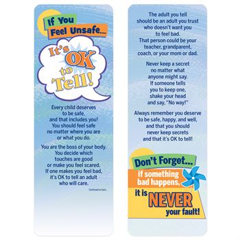 It's Ok To Tell Bookmark - 25 Per Pack