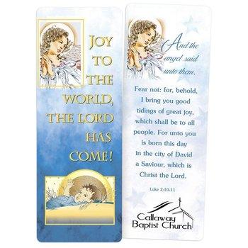 Joy To The World Laminated Bookmark - Personalization Available