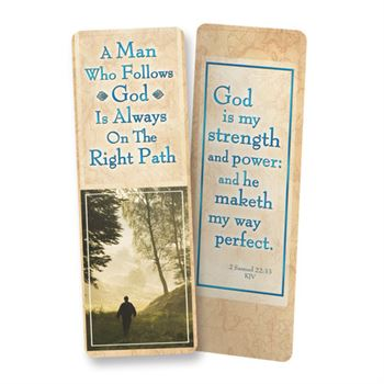 A Man Who Follows God Is Always On The Right Path Deluxe Bookmark