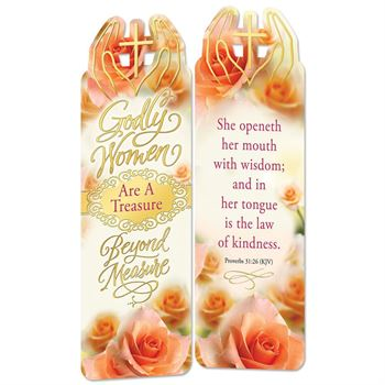 Godly Women Are A Treasure Beyond Measure Deluxe Die-Cut Bookmark - Pack of 15