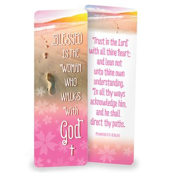 Blessed Is The Woman That Walks With God Deluxe Die-Cut Bookmark - Pack of 15