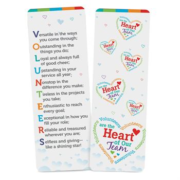 Volunteers Are The Heart Of Our Team Deluxe Bookmark