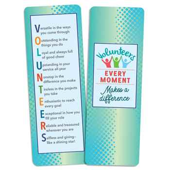 Volunteers: Every Moment Makes A Difference Deluxe Bookmark Pack