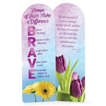 B.R.A.V.E. Women Of Faith Make A Difference Deluxe Bookmark - Pack of 15