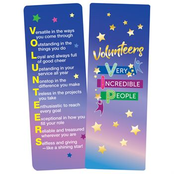 Volunteers: Very Incredible People Deluxe Foil-Stamped Bookmarks - Pack of 15