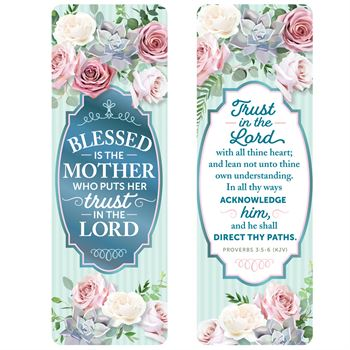 Blessed Is The Mother Who Puts Her Trust In The Lord Deluxe Bookmark - Pack of 15