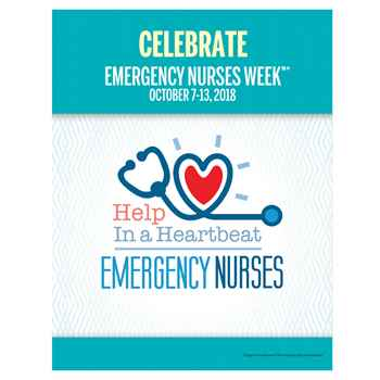 Emergency Nurses: Help In A Heartbeat Event Week Poster
