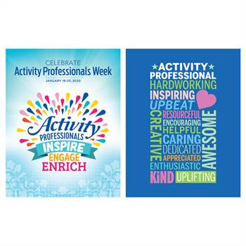Activity Professionals: Inspire, Engage, Enrich 2-Sided Event Poster