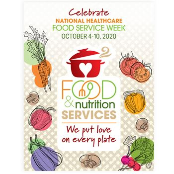 Food & Nutrition Services:We Put Love On Every Plate Poster