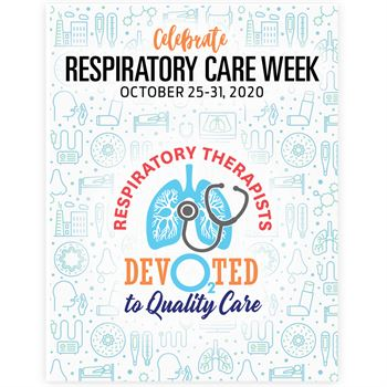 Respiratory Therapists: Devo2ted To Quality Care Event Week Poster - Pack of 5