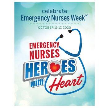 Emergency Nurses: Heroes With Heart Event Week Poster - 5 per pack