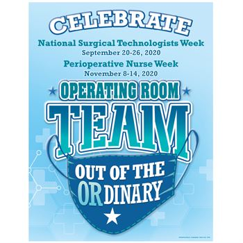 Operating Room Team: Out Of The OR-dinary Event Week Poster - 5 per pack