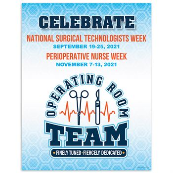 Operating Room Team: Finely Tuned, Fiercely Dedicated Event Week Poster - Pack of 5