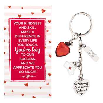 Nursing Charm Key Tag With Keepsake Card