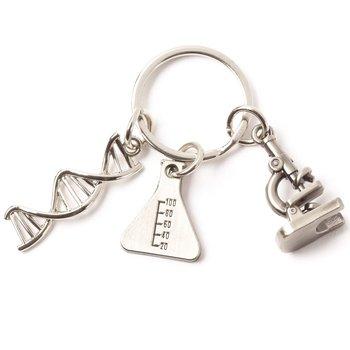 Microscope Charm Key Tag with Keepsake Card