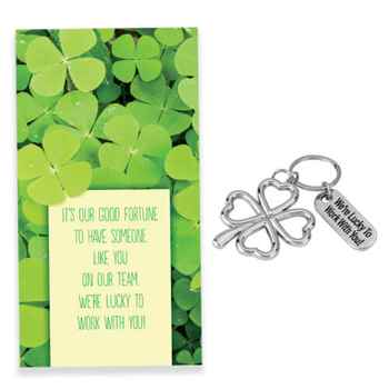 We're Lucky To Work With You! Key Tag with Keepsake Card