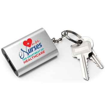 Nurses: The Heartbeat Of Healthcare Emergency Power Bank Key Tag