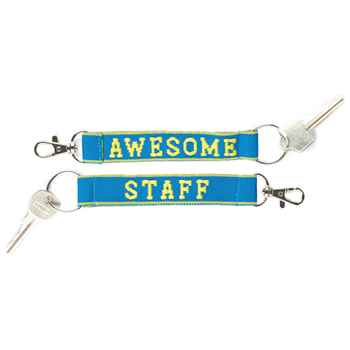 Awesome Staff Woven Key Tag