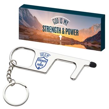 God Is My Strength & Power Germ-Free No-Touch Tool