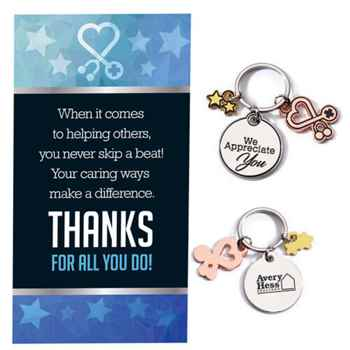 We Appreciate You Charm Key Tag With Keepsake Card - Personalization Available