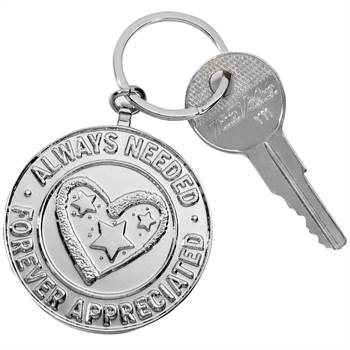 Always Needed, Forever Appreciated Key Tag With Keepsake Card - Personalized