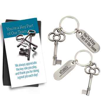 You're a Key Part Of Our Team Key Tag With Keepsake Card - Personalization Available
