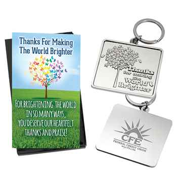 Thanks For Making The World Brighter Key Tag - Personalization Available