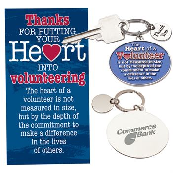 The Heart Of A Volunteer...Key Tag With Card