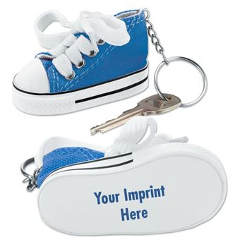 Blue Mini Canvas Hi-Top Sneaker Key Ring - Personalization Available