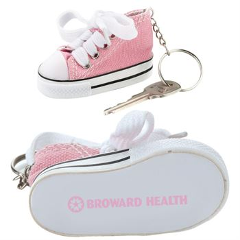 Pink Mini Canvas Hi-Top Sneaker Key Ring - Personalization Available
