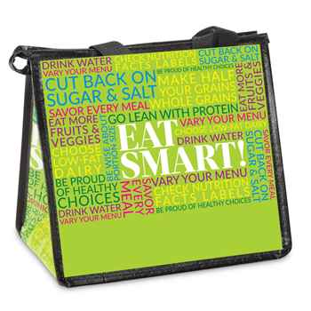 Eat Smart! Eco-Friendly Laminated Insulated Lunch Bag