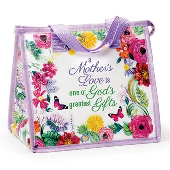 A Mother's Love is One Of God's Greatest Gifts Floral Laminated Non-Woven Insulated Lunch Bag