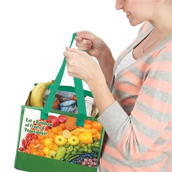 Eat A Rainbow Of Fruits & Vegetables! Eco-Friendly Insulated Lunch Bag